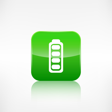 application button: Full battery icon. Application button. Illustration