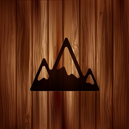 hill top: Mountains web icon