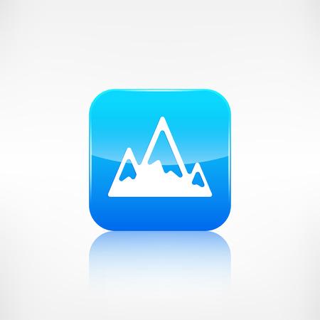 mountaintop: Mountains web icon