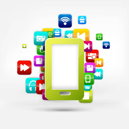 Application button.Social media.Cloud computing. Vector