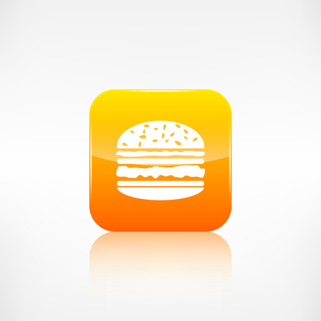 Hamburger web icon. Application button. Vector