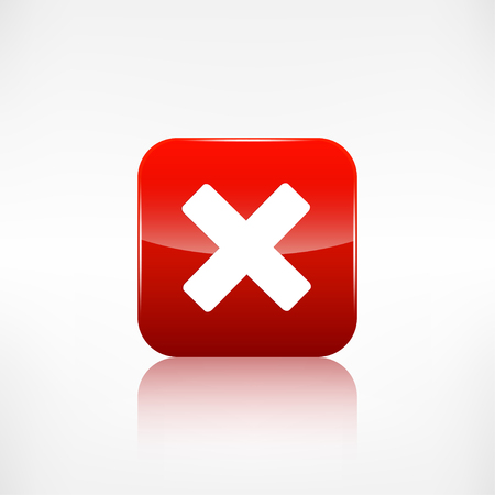 Delete web icon. Close symbol. Application button. Vector