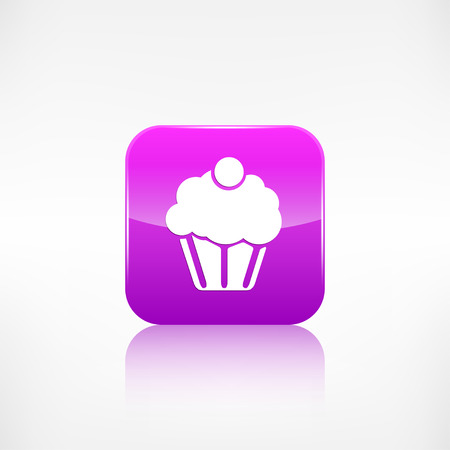Cake web icon. Application button. Vector