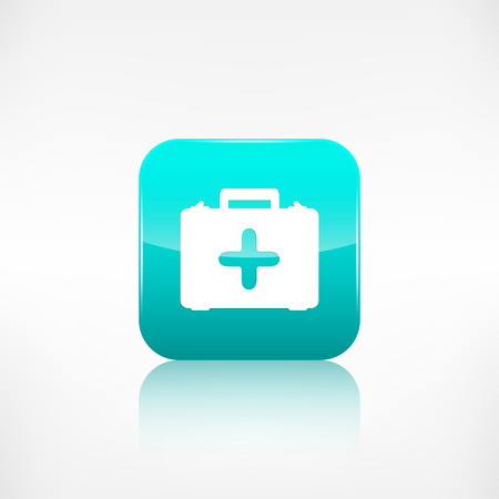 application button: First aid kit icon. Application button.