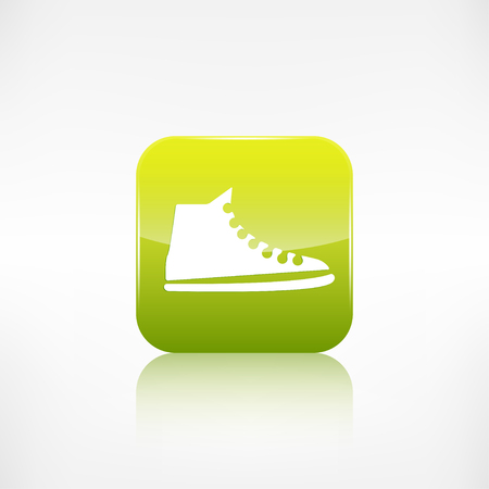 keds: Casual keds, gym shoes icon.Application button.
