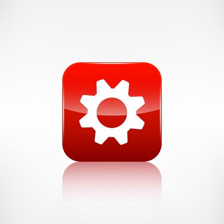 gearwheel: Settings icon. Gear symbol. Application button.