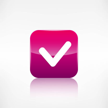 Accepr icon. Yes, ok symbol. Application button. Vector
