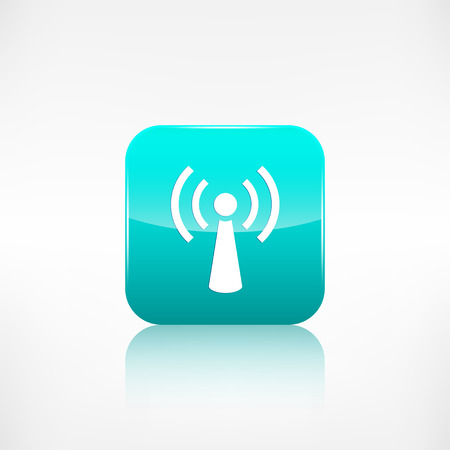 application button: Wireless web icon. Application button. Illustration