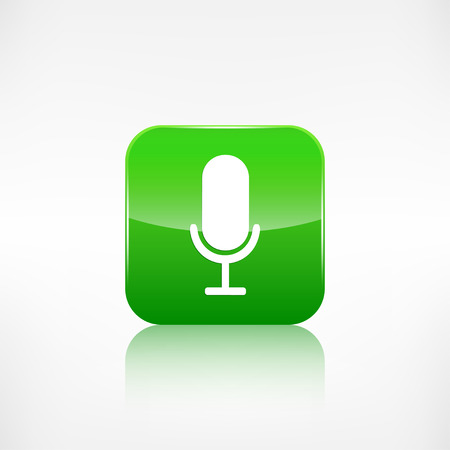 Microphone icon. Application button.