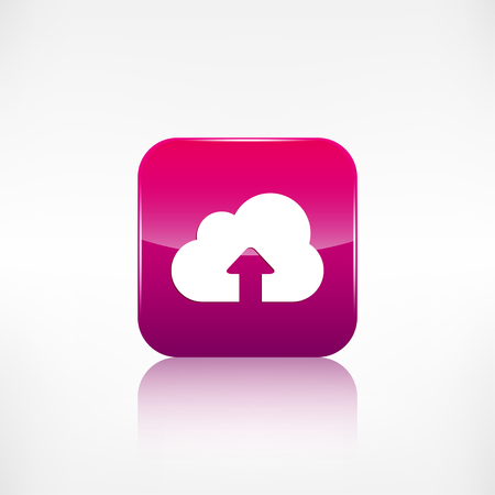 application button: Cloud upload icon. Application button.