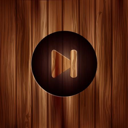 Next track web icon. Media player. Vector