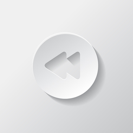 reverse: Reverse or rewind icon. Media player.