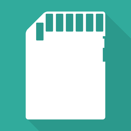 sd card: compact memory card icon