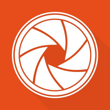 diaframma: Foto fotocamera icona diaframma Vettoriali