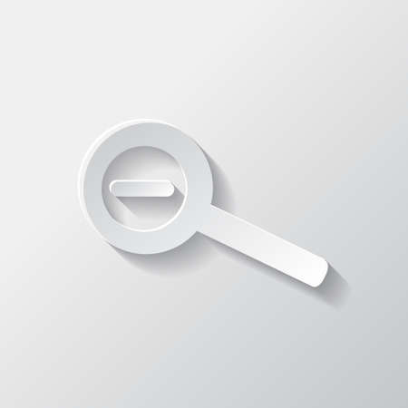 zoom out: Zoom out icon. Search loupe.
