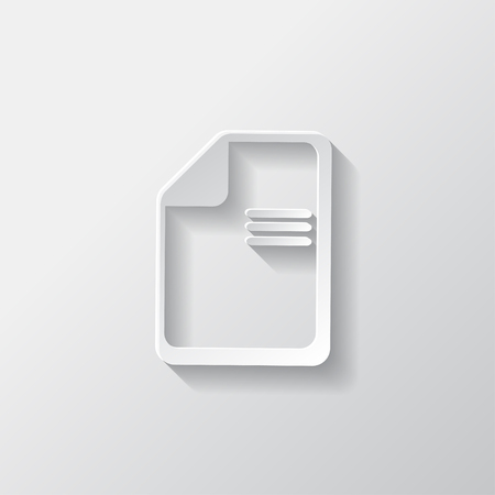 File icon. Data symbol. Document format Vector