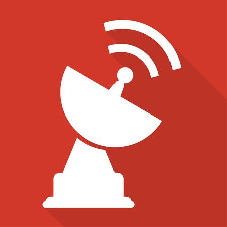 parabolic: satellite plate icon Illustration