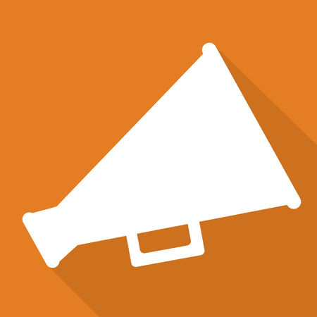 loudhailer: Megaphone, loudspeaker icon. Loud-hailer symbol