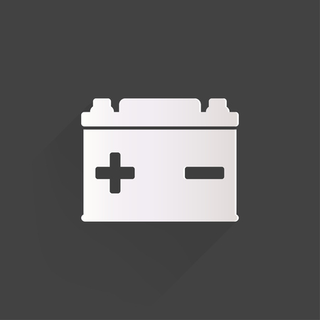 battery: Car battery icon Illustration
