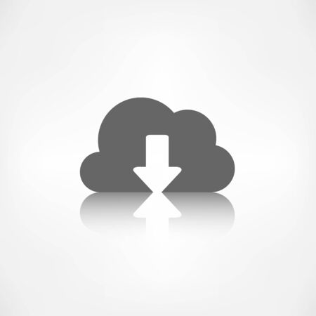 Application cloud download icon. Illustration