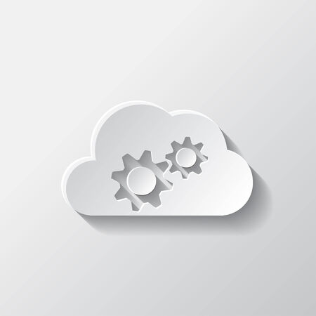 Application cloud settings icon. Vector