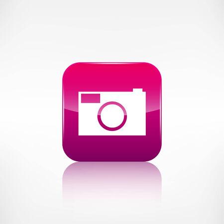 photo camera: Foto fotocamera icona. Fotografia.