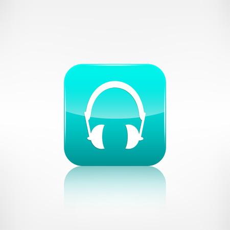 accessoire: Headphones pictogram. Musical accessoire.