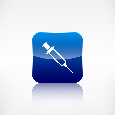 Syringe web icon Vector
