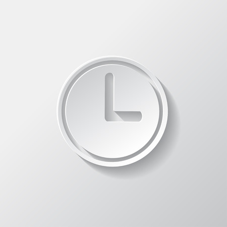 Clock web icon button. Time symbol. Vector