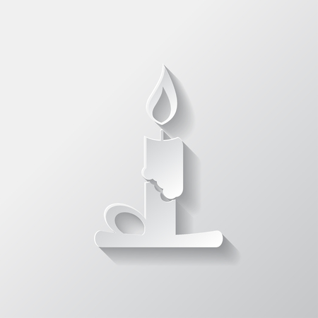 lighted: Candle web icon