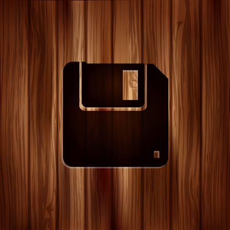 salvaging: Floppy disk icon. Wooden texture.