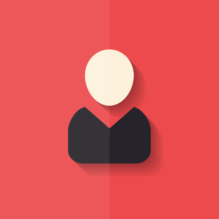 Person icon. Flat design. Vector