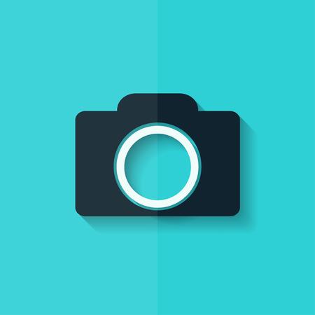 photo camera: Photo camera icon. Photography. Flat design.