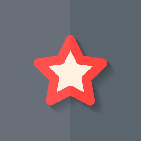 Star favorite sign web icon. Flat design. Vector