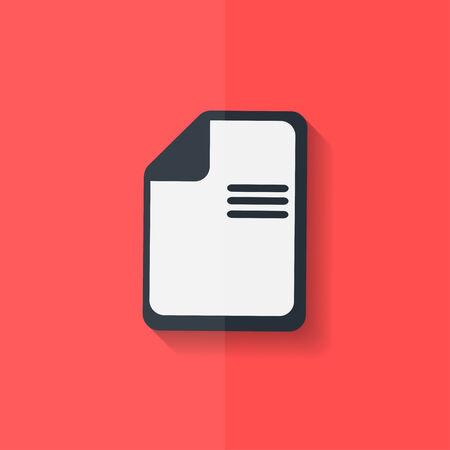 File icon. Data symbol. Document format. Flat design. Vector