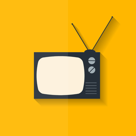 retro tv: Retro tv icon. Flat design.