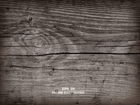 Realistic highly detalized wood background. Old wooden plank. 向量圖像