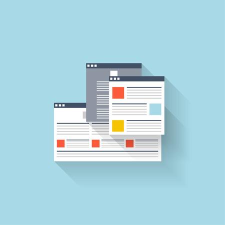 web browser: Flat web icon. Browser interface window