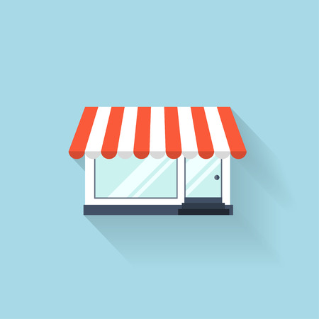 internet shop: Flat web icon. Internet shop. Illustration