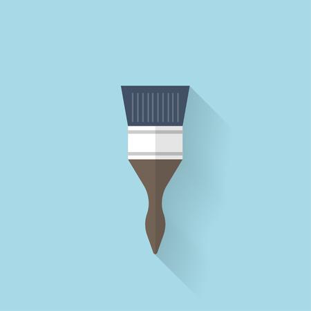 modernization: Flat web icon. Brush Illustration