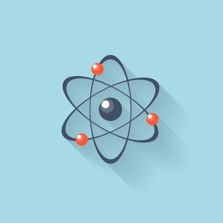 Flat web internet icon. Atomic model. Ilustração Vetorial