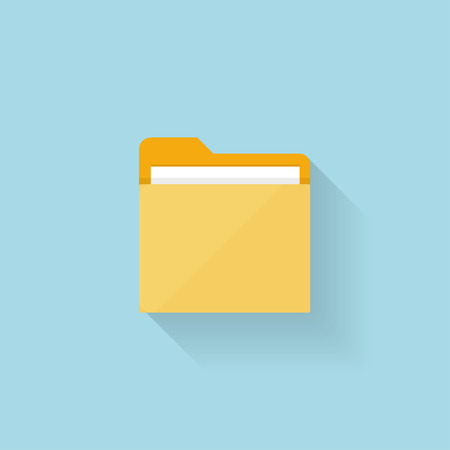 Flat folder icon for web