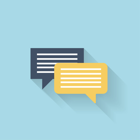 word of mouth: Flat talking icon for web. Speech bubbles
