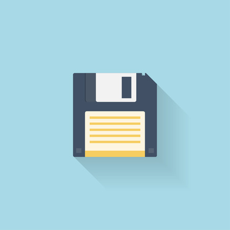 Flat floppy disk icon for web.