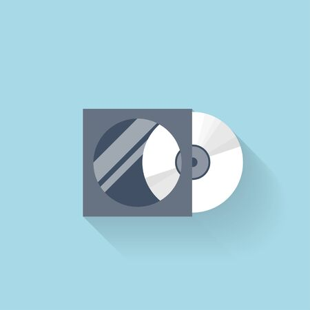 bytes: Flat compact disk icon for web.