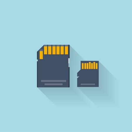 cf: Piatto icona della scheda di memoria per il web.