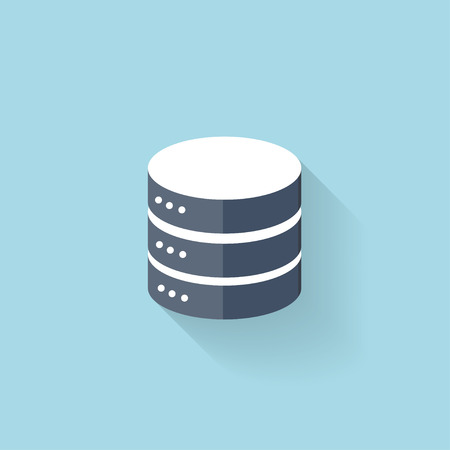 Flat data storage icon for web. Vector