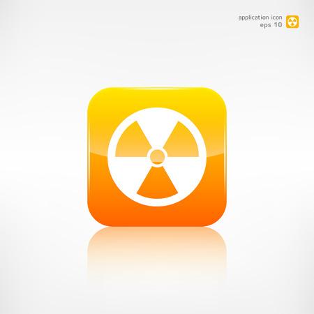 Radiation danger icon