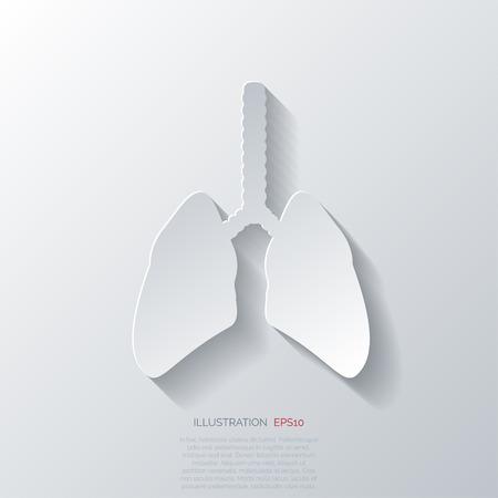 aparato respiratorio: Icono de pulm�n humano. Antecedentes m�dicos. Cuidado de la salud