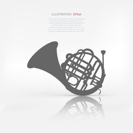 oboe: Music wind instruments icon Illustration